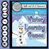 Language Arts and Math Frozen Learning Fun