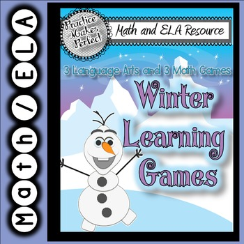 Language Arts and Math Frozen Learning Fun