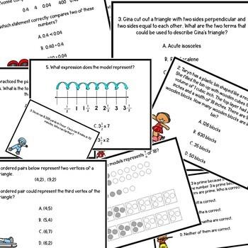 Winter Games 5th Grade Math STAAR Review