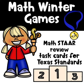 Winter Games 5th Grade Math STAAR Review Taskcards