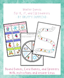 Winter Games {Board Games, Card Games, and Spinners}