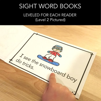 Winter Games Books - Sight Word Practice