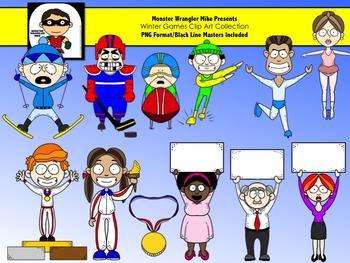 Winter Games Clip Art Set