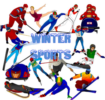 winter games clip art bundle olympics by learning lane resources rh teacherspayteachers com winter olympics clip art free winter olympic sports clipart