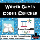 Winter Games Cootie Catcher Freebie