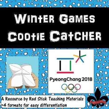 Winter Games Cootie Catcher Freebie