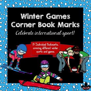 Winter Games Corner Book Marks