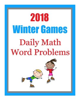 Winter Games Daily Math Word Problems with FUN FACTS!