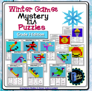 Winter Games ELA Mystery Puzzles Grade 3 Edition