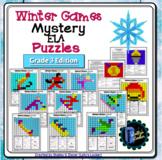 Winter Games ELA Mystery Puzzles Grade 3 Edition