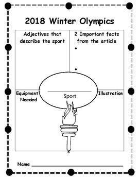 Winter Games Graphic Organizers