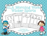 Winter Olympics Language Arts morning work  (nouns, verb tense, & prefixes)