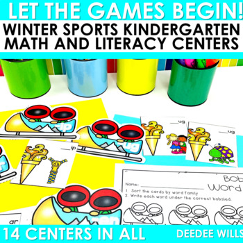 Winter Sports and Games! Math and Literacy Centers