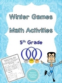 Winter Games Math Activities - 5th