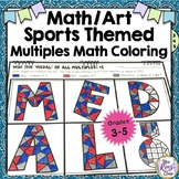 Winter Games Math Art Multiples - Fun Coloring to Reinforc