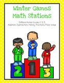 Winter Games Math Stations