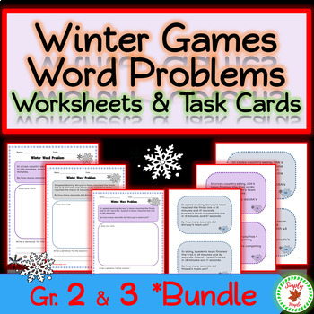 Winter Games Math Word Problems – 2nd & 3rd Grade combined