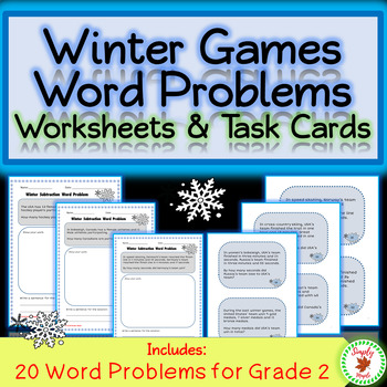 Winter Games Math Word Problems - 2nd Grade