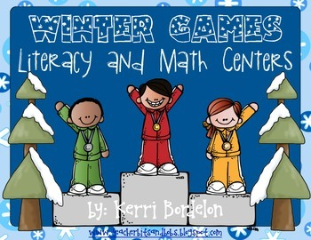 Winter Olympic Games! Math and Literacy Centers