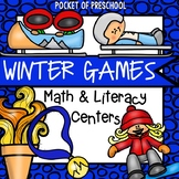 Winter Games Math and Literacy Centers for Preschool, Pre-K, and Kindergarten