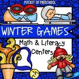 Winter Games Math and Literacy Centers Preschool, Pre-K, & Kindergarten