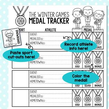 Winter Games Medal Tracker FREEBIE