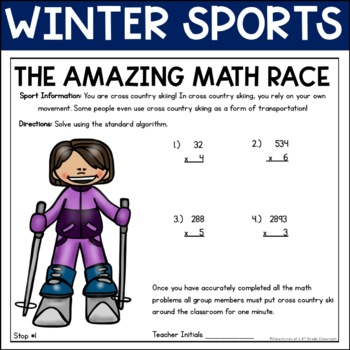 Winter Games: Multiplication and Division