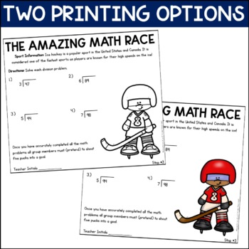 2- Digit by 2- Digit Multiplication and Long Division Review (Amazing Math Race)