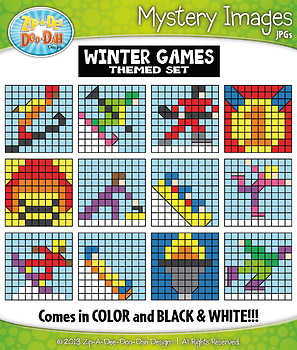Winter Games Mystery Images Clipart {Zip-A-Dee-Doo-Dah Designs}