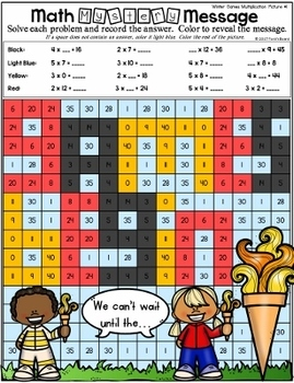 Winter Games Mystery Pictures - Multiplication and Division
