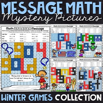 Winter Games Mystery Pictures | Winter Games Color by Number