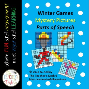 Winter Games Mystery Pictures Parts of Speech