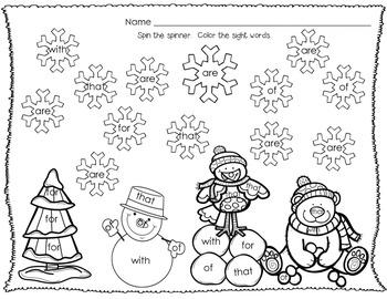 Winter Games - Phonics & Sight Word Fun!