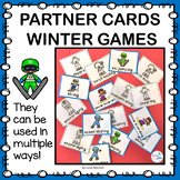 Winter Sports Pick a Partner Cards with Verbs and Characte