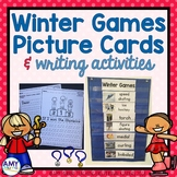 Winter Games Picture Vocab Cards & Writing Activities