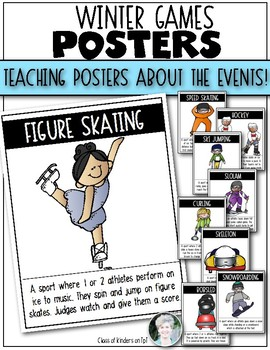 Winter Games 2018 Posters {Current Events} for Kindergarten & First Grade