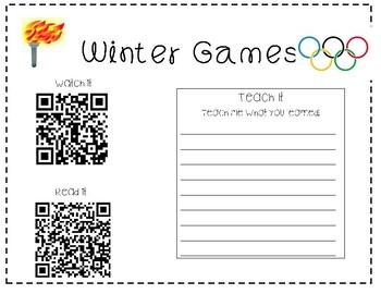 Winter Games QR Code Research Mat