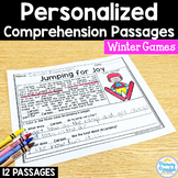 Reading Passages Winter Games: PERSONALIZED Comprehension