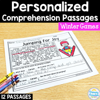 Reading Passages Winter Sports: PERSONALIZED Comprehension