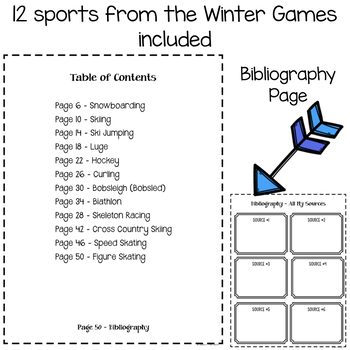 Winter Games Research Project Posters