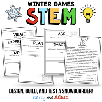 Winter Games Sports STEM Activities and Challenges BUNDLE