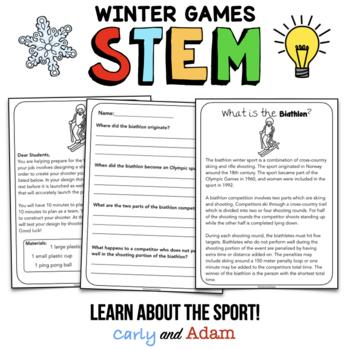 Winter Games Biathlon STEM Activity