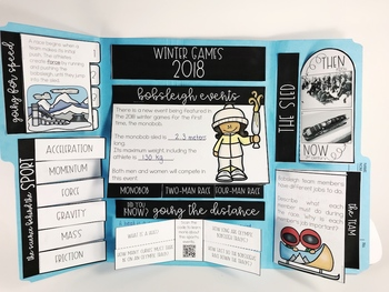 Winter Games STEM and Lapbook: Bobsleigh