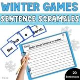 Winter Games Sentence Scrambles