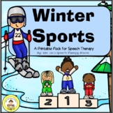 Winter Sports Speech Therapy Printable Pack