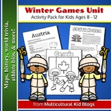 Winter Games Unit: Activity Pack for Kids Ages 8 - 12