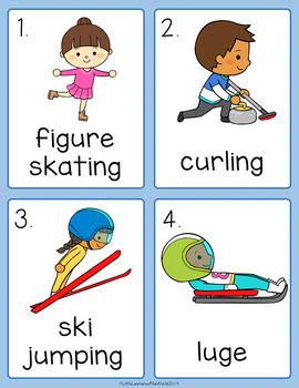 Winter Games - Winter Olympics Write the Room