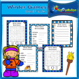 Winter Games Word Puzzles