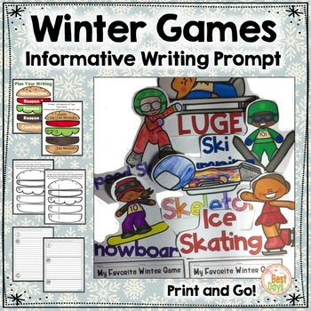 Winter Games Writing: Mini Report, Posters, Planners, Toppers