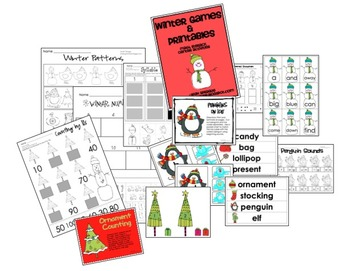 Winter Games and Printables
